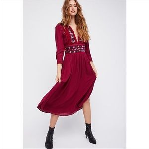 Free People Flora Midi Dress